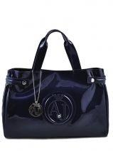 Draagtas Vernice Lucida Gelakt Armani jeans Blauw vernice lucida 5291-55