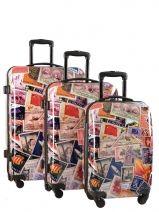 Koffer 2 Wiel Travel Veelkleurig print shinny SG452706