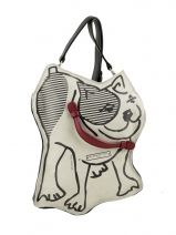 Cross Body Tas Dog Barbara rihl Zwart dog BCOTED