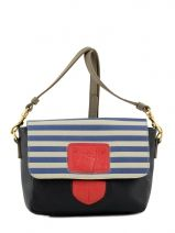 Sac Bandouli�re Navy Leder Barbara rihl navy B50VIM