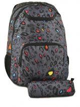 Rugzak 2 Compartimenten + Pennenzak Roxy backpack ERJBP304