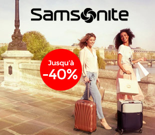 bagages samsonite promotion
