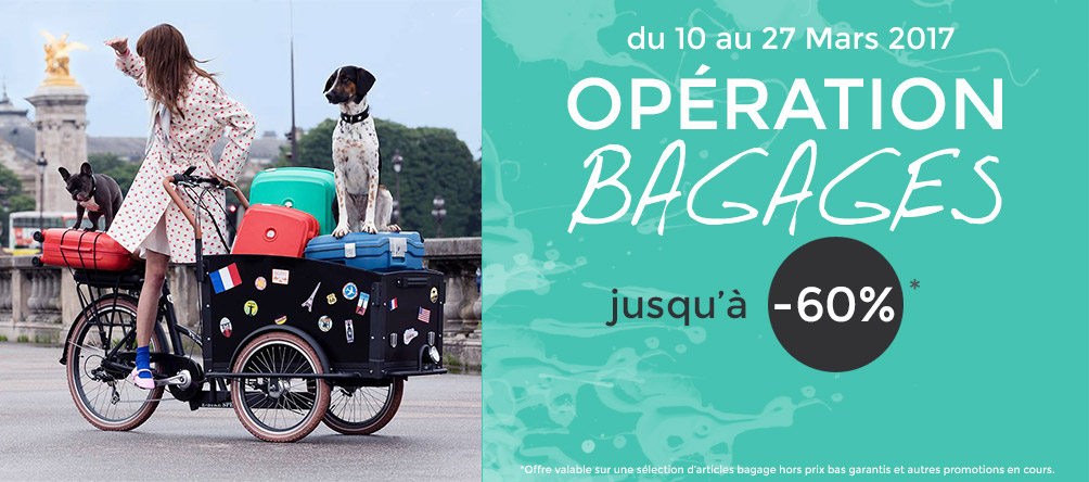 operation bagages pas cher promotion